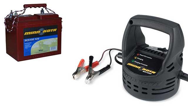 Переносные зарядные устройства для аккумуляторов лодочных электромоторов