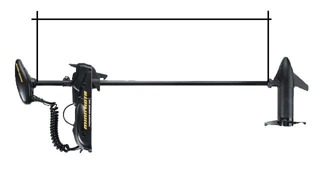 Измерение длины штанги вала лодочного электромотора