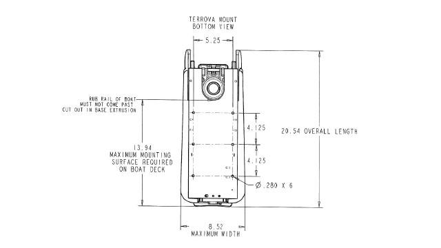 Схема установки лодочного электромотора Minn Kota Terrova