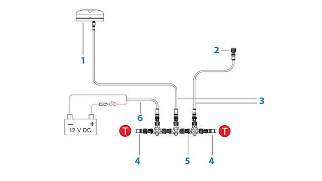 Схема сети NMEA2000