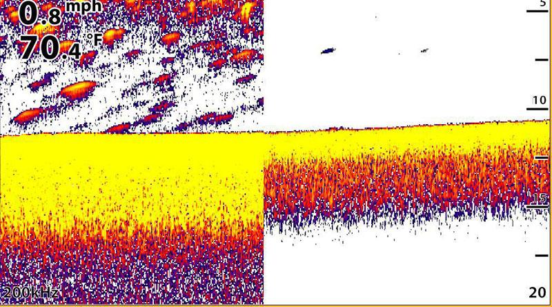 Экан эхоллота Humminbird в режиме switchfire
