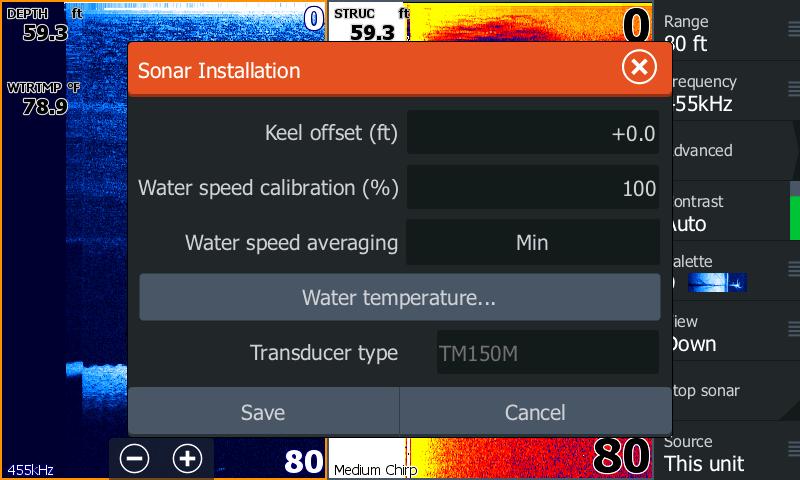 Выбор трансдьюсера Airmar TM150