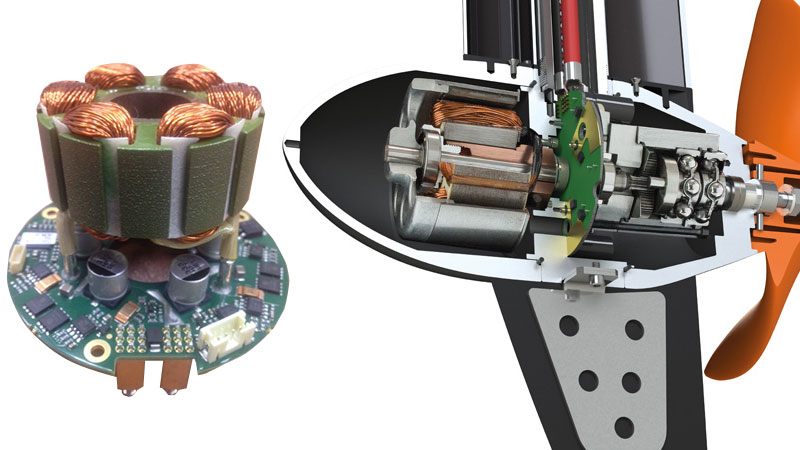 Электроника в корпусе лодочного электромотора