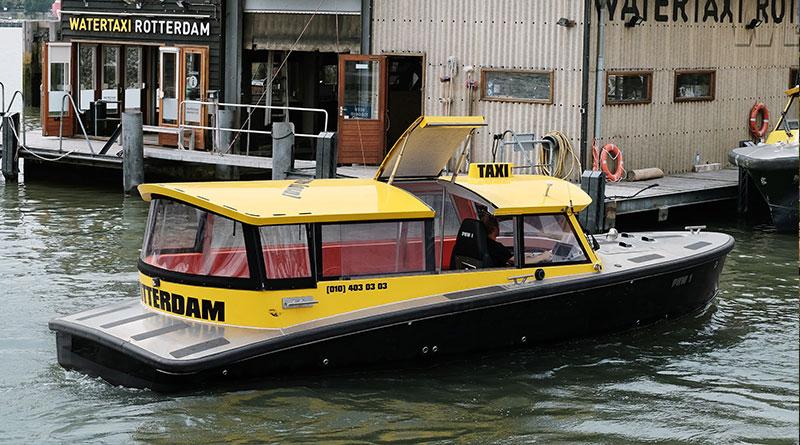 Водное такси с электромотором Torqeedo в Роттердаме