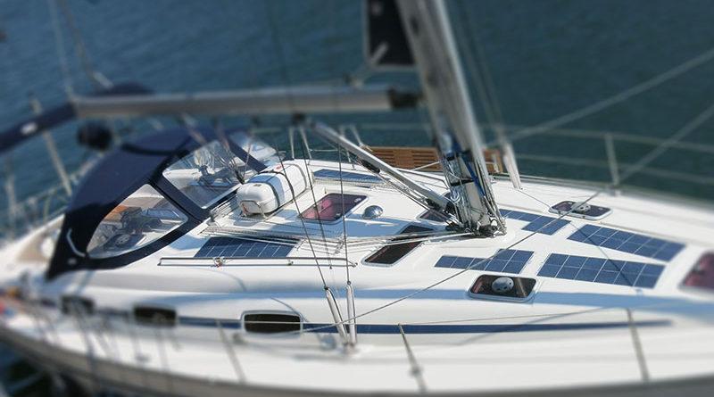 Солнечные панели на яхте