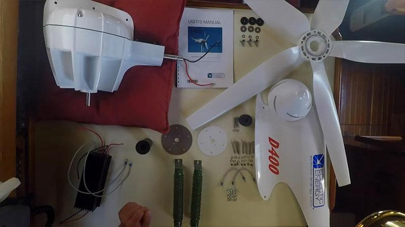 Комплект поставки ветрогенераторной установки для яхты