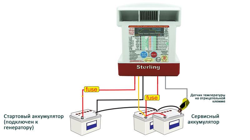Схема подключения DC-DC зарядного конвертера